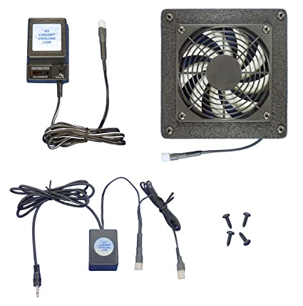 AV Cabinet 12 Volt Trigger Controlled Cooling Fan System, With Multi Speed  Fan
