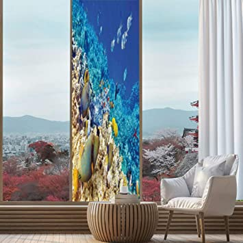 Amazon Com Yoliyana Decorative Privacy Window Film Ocean