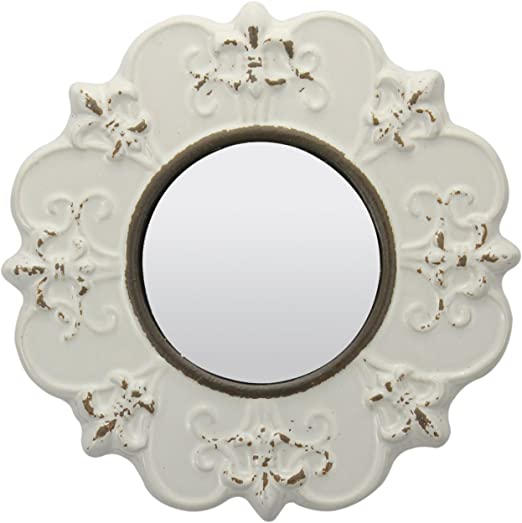 Set of 4 Antiqued Gold Bedroom Bathroom Hallway Wall Hanging Round Mirrors