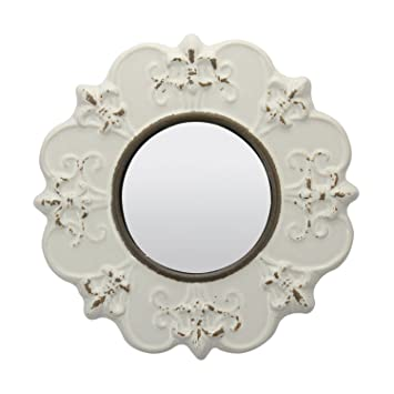Amazon.com: Stonebriar Decorative Round Antique White Ceramic Wall ...