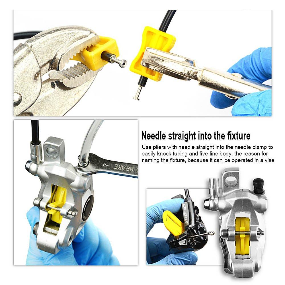 BIKEIN Master Hydraulic Disc Brake Bleeding Tool Kit For Mineral Oil & DOT Brake System MTB Repair Tools For SHIMANO MAGURA TEKTRO BENGAL ECHO AVID by BIKEIN (Image #4)