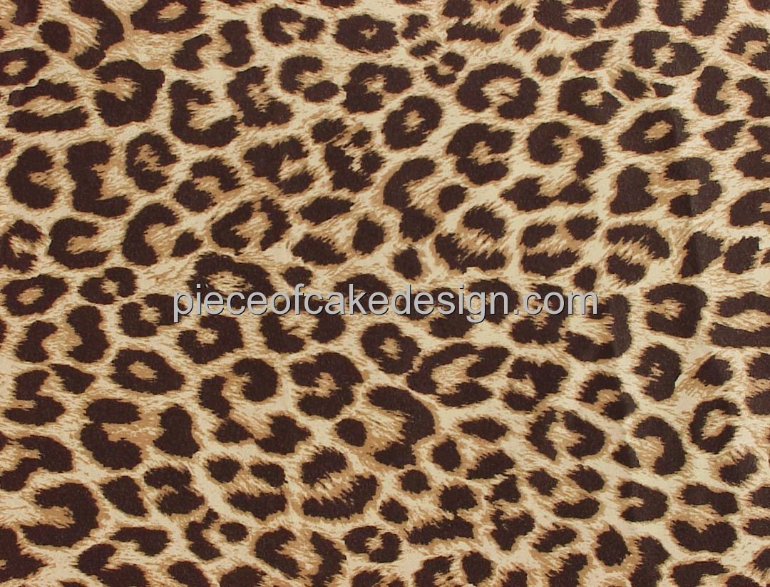 8'' Round ~ Natural Leopard Print ~ Edible Cake/Cupcake Topper!!!