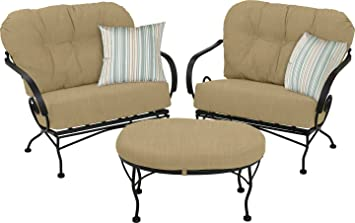 Meadowcraft Brantley 3 Piece Chat Set