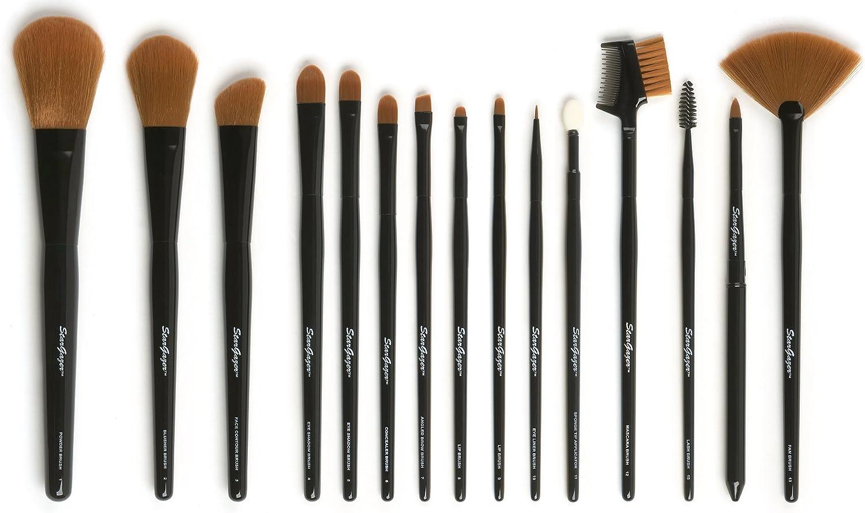 Stargazer, Set de brochas para maquillaje (15 piezas) - 1 pack: Amazon.es: Belleza