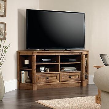 Amazon.com: Sauder Palladia Corner TV Stand in Vintage Oak ...
