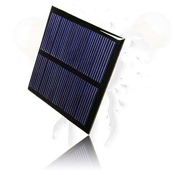 Panel solar de 5,5 V, 60 x 60 cm, 80 mA, policristalino ...
