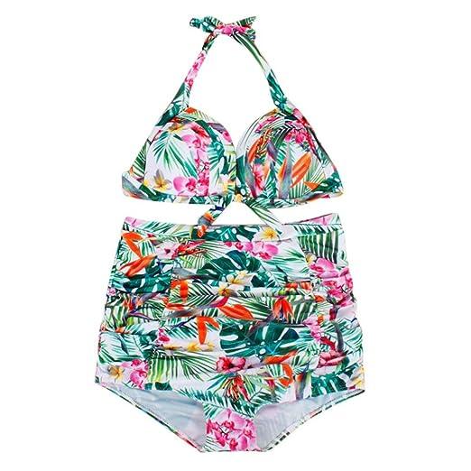 aab78b79fe6 SUPPION Plus Size Women Push-Up Padded Bra Beach Bikini Set Swimsuit Print Sexy  Swimwear