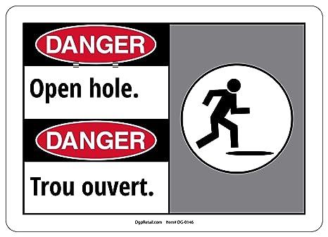 Amazon.com: OSHA peligro señal de seguridad Agujero abierto ...