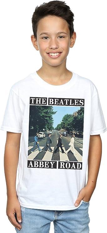 Children Boy Kids T Shirt THE BEATLES ABBEY ROAD Graphic Shirt Black