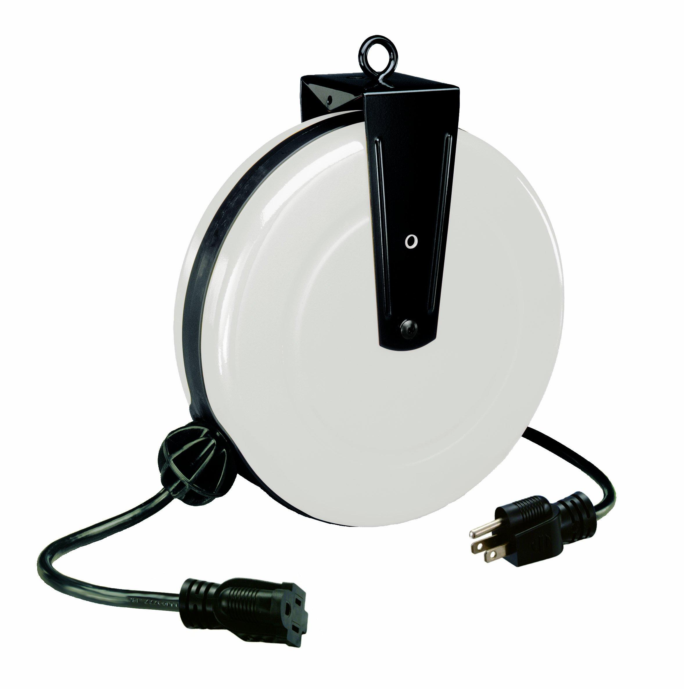 Alert Stamping 5000A-30GF-S 30-Feet Single Tap Cord Reel