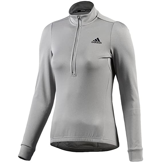 best website b4562 9a457 adidas Performance Womens Response Cycling Jersey Top Grey  Amazon.co.uk   Clothing