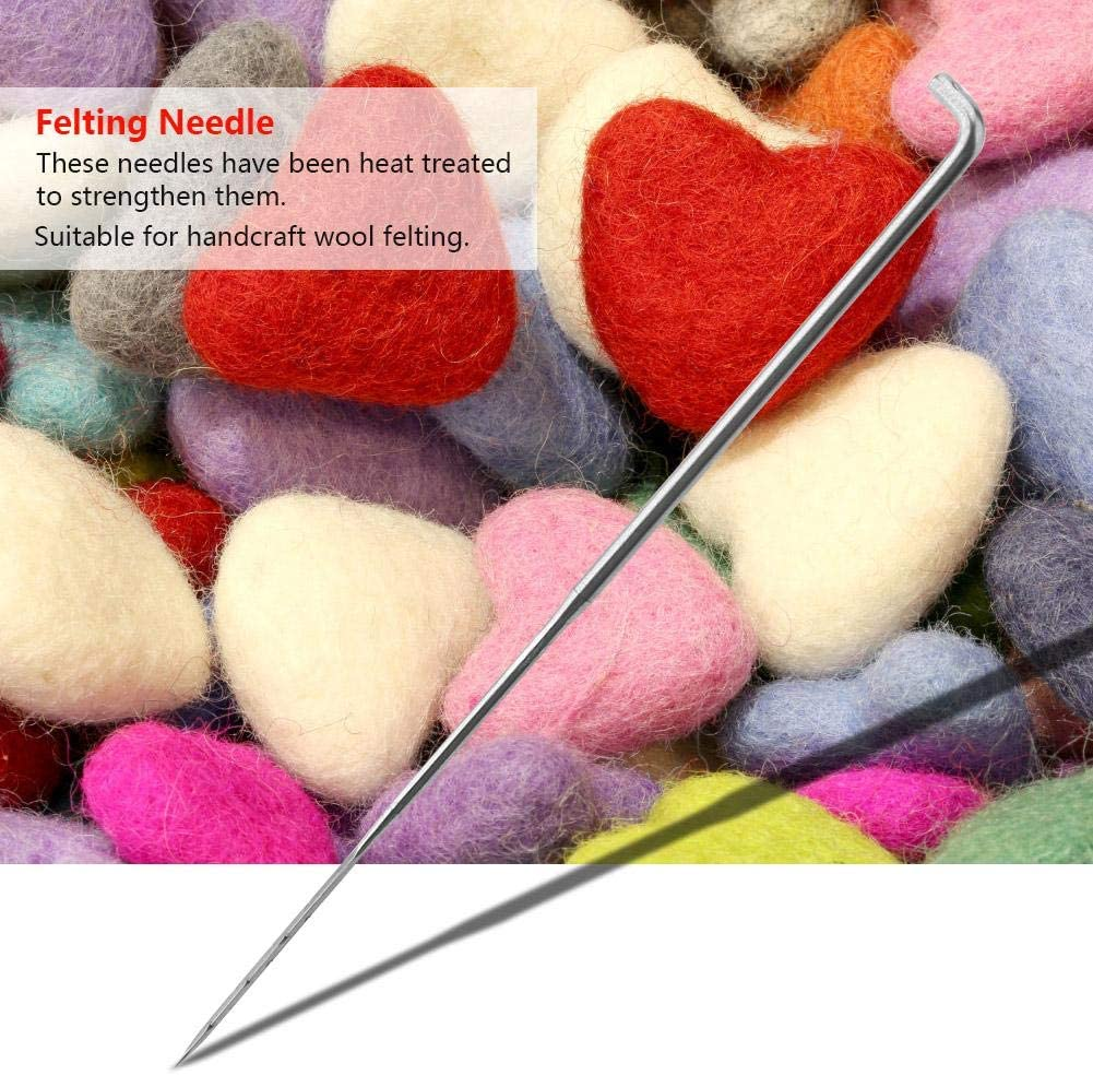 100Pcs Handcraft Embroidery Wool Felting Poked Needles Kits Set Stitch Punch Tool for Hand Craft DIY Sewing Handmade Handcraft S