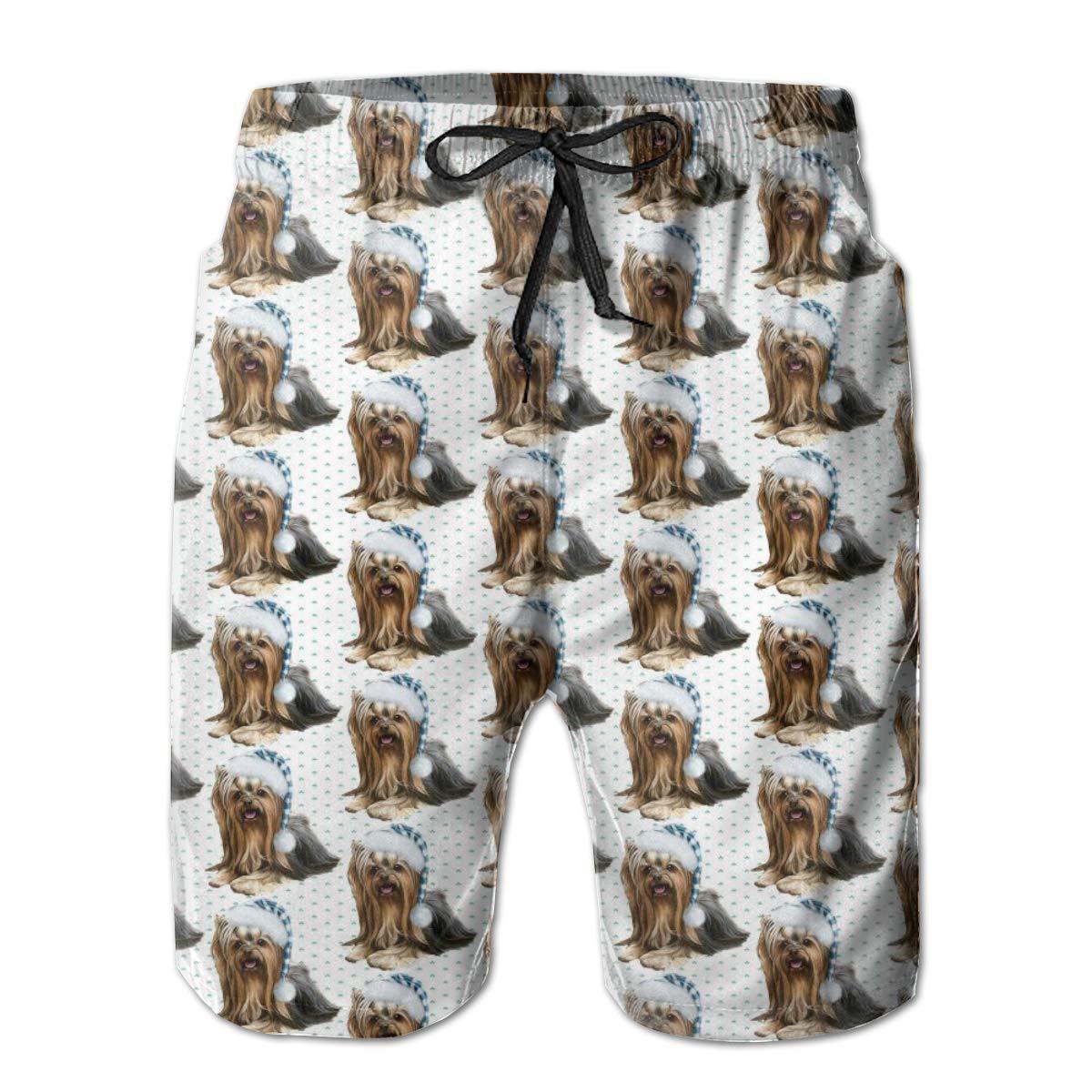 Galaxy Voyage Maltese Dog Boys Men S Swim Trunks Surf Pants 3D Swimming Trunks Board Shorts for Men