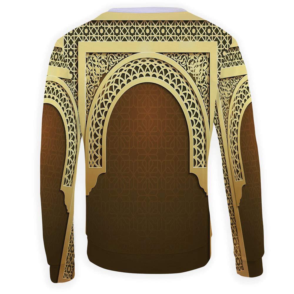 MOOCOM Mens Crewneck Moroccan Sweatshirt
