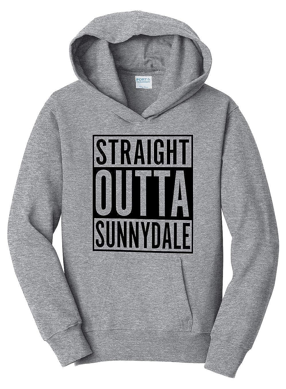 Tenacitee Girls Straight Outta Sunnydale Hooded Sweatshirt