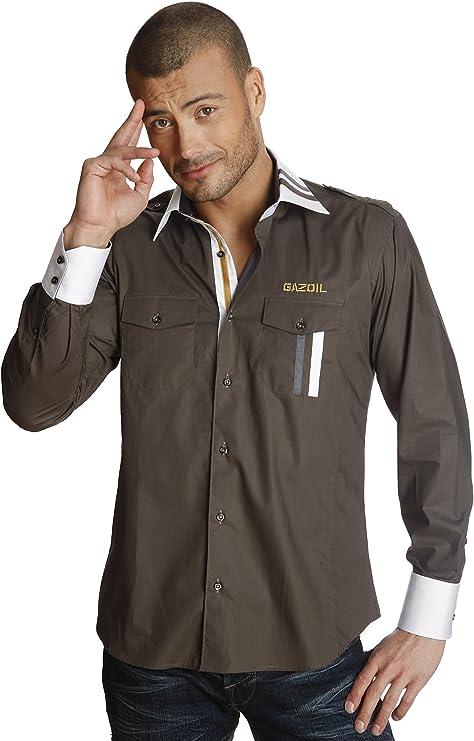 Gazoil Camisa Army Caqui XS: Amazon.es: Ropa y accesorios
