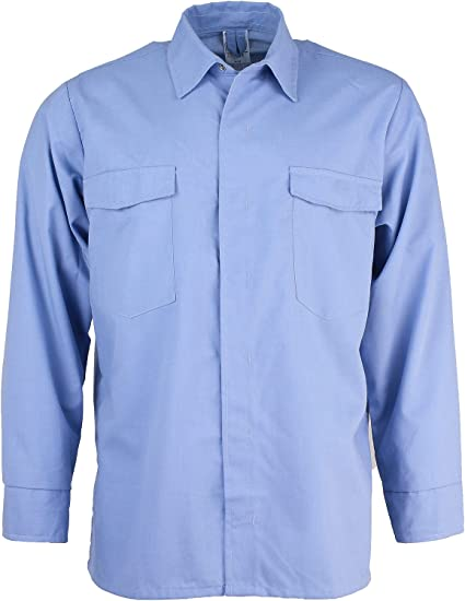 Asatex cvhe01en 41 – Camisa con botones de llamas, color azul ...