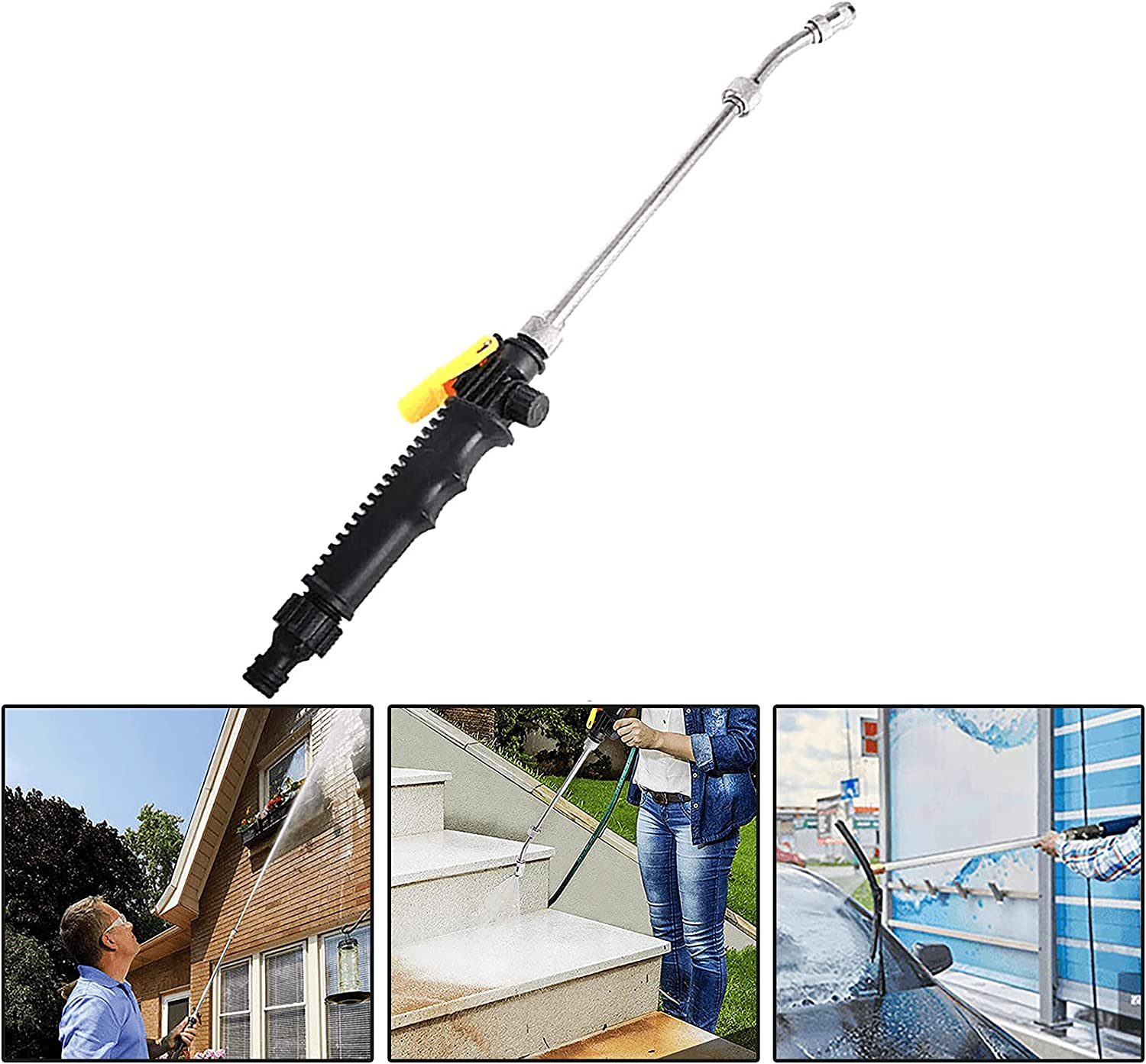 30 cm 2-in-1 High-Pressure Cleaner,Extendable Jet Washer High Pressure Power Washer,Flexible Hose Nozzle,for Car Washer, Window Water Cleaner,Garden Cleaning Outdoor