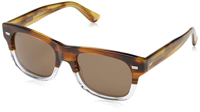 Gucci - Gafas de sol Wayfarer GG, color naranja/negro ...