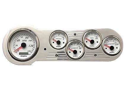 1953 1954 Chevy Car Dash Panel Instrument cluster Set White