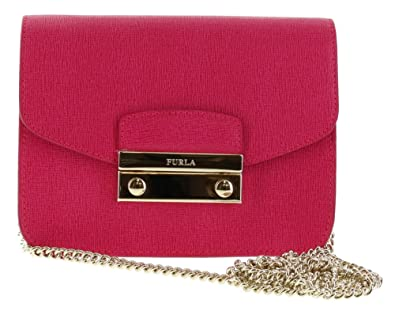 9b6b6837ef15af Amazon.com: Furla Julia Saffiano Leather Mini Crossbody Bag, Gloss ...