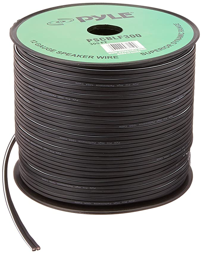 Amazon.com: Pyle-Pro PSCBLF300 300 Feet 12 AWG Spool Speaker Cable ...