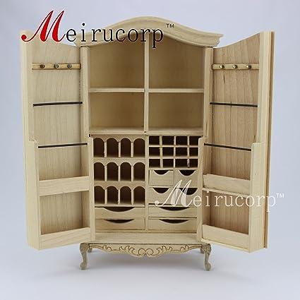 Amazon Com Unpainted Dollhouse 1 12 Scale Miniature Furniture