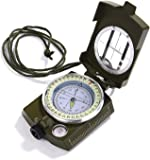 GWHOLE Waterproof Compass for Hiking Military Navigation with Pouch Lanyard and English User Guide