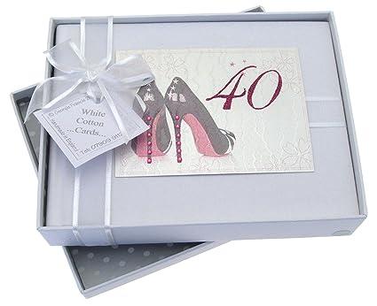 White Cotton Cards - Álbum para fotos para 40. Cumpleaños ...