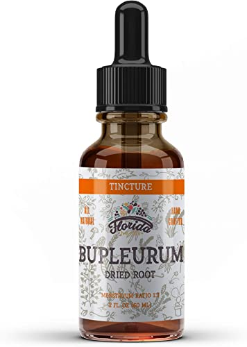 Bupleurum Tincture, Organic Bupleurum Extract Bupleurum Chinense Dried Root Herbal Supplement, Non-GMO in Cold-Pressed Organic Vegetable Glycerin, 700 mg, 2 oz 60 ml