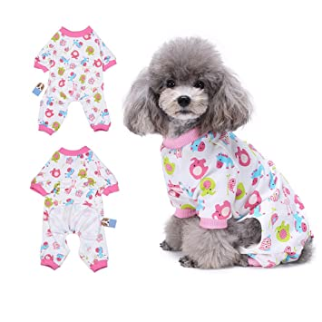 HongyH - Pijama para perro, diseño de caballo rojo pequeño, cómodo pijama para cachorro
