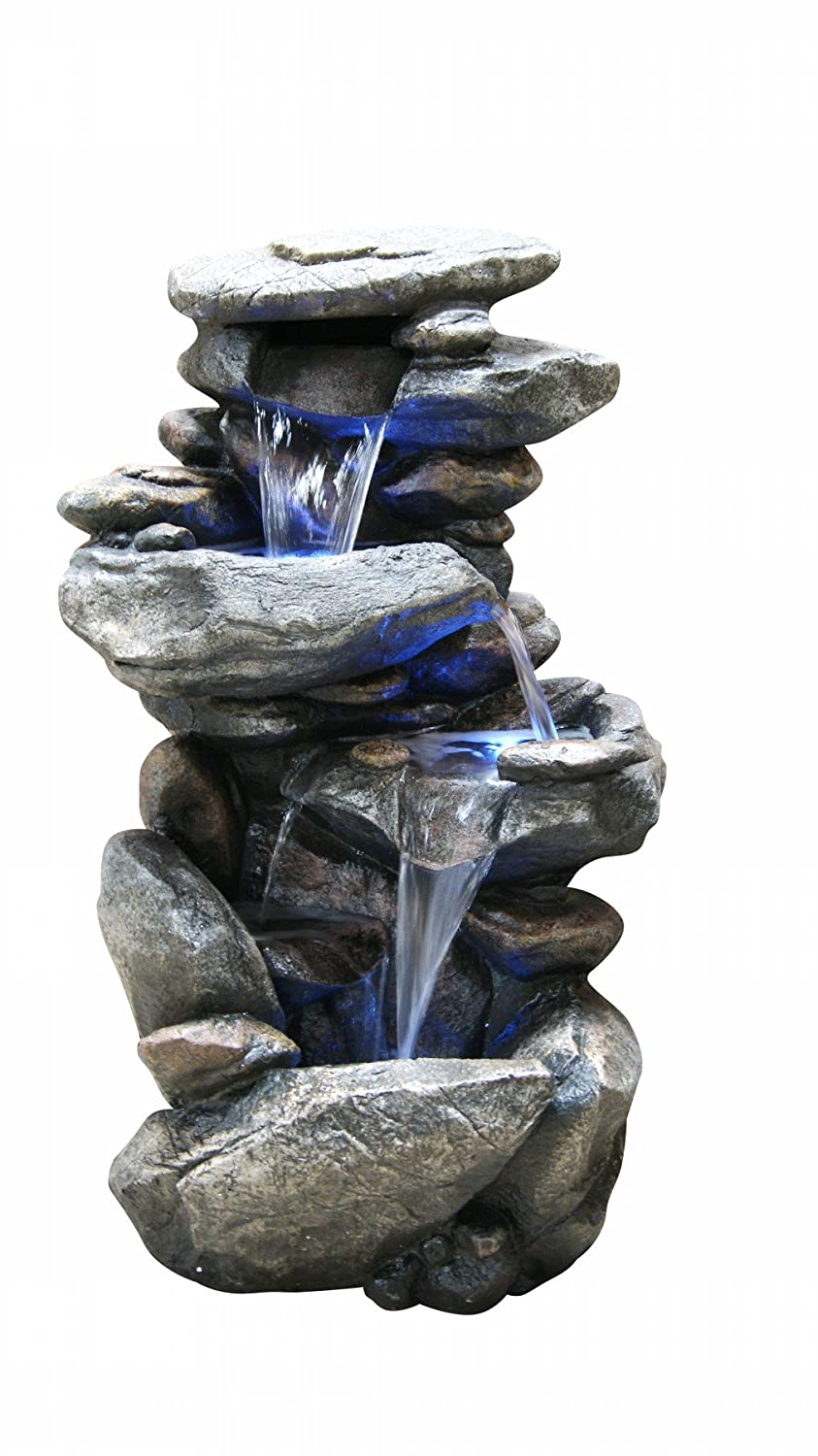 Alpine WIN316 Rock Waterfall Fountain with LED Light