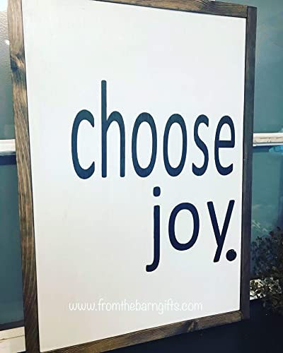 Amazoncom Choose Joy Sign Farmhouse Style Reclaimed Wood Diy