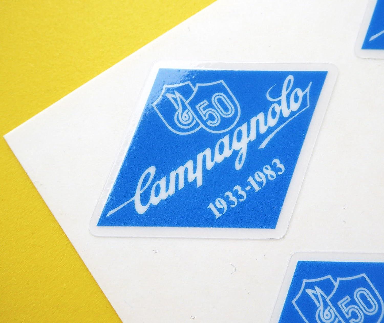 Campagnolo Vintage Stil 50th Jahrestag Blau Rahmen Bike Aufkleber Auto