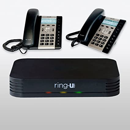 f40fa13a701 System Bundle  ring-u Hello Hub with 2 Atcom A20W IP phones Small Business  Phone System (PBX) and Service (voip). Up to 20 lines and 50 extensions.