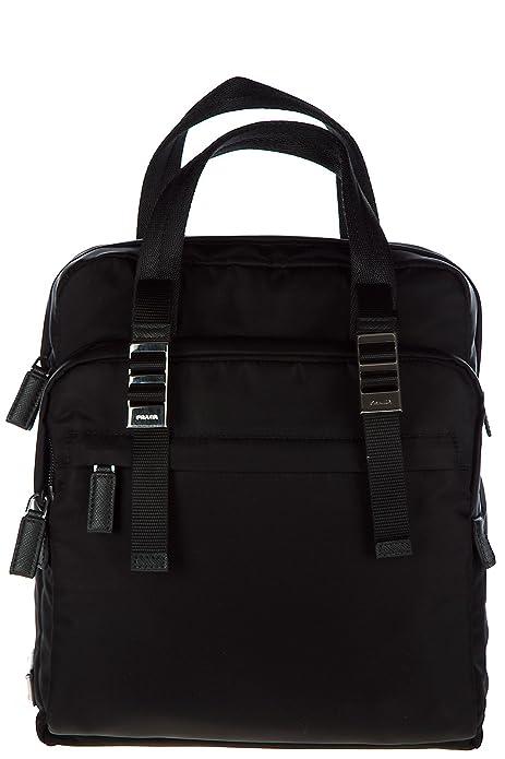 Prada mochila bolso de hombre en Nylon nuevo negro: Amazon.es: Zapatos y complementos