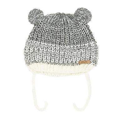 BARTS - Bonnet Maille chiné Gris Perle 2 Pompons Bébé Fille du 1 au 3 Ans   Amazon.fr  Vêtements et accessoires 4d8c829c6c7