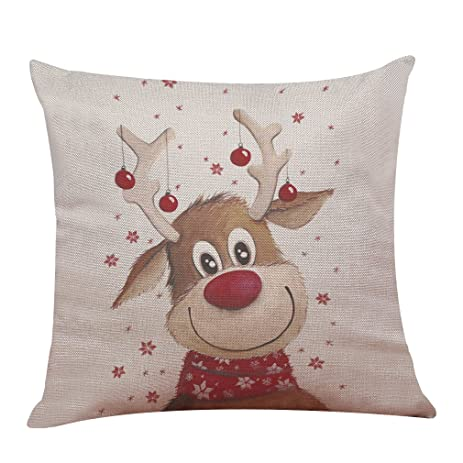 Christmas Pillow Covers Christmas Deer Pattern for Party Home Decorations  Merry Christmas Decorative Sofa