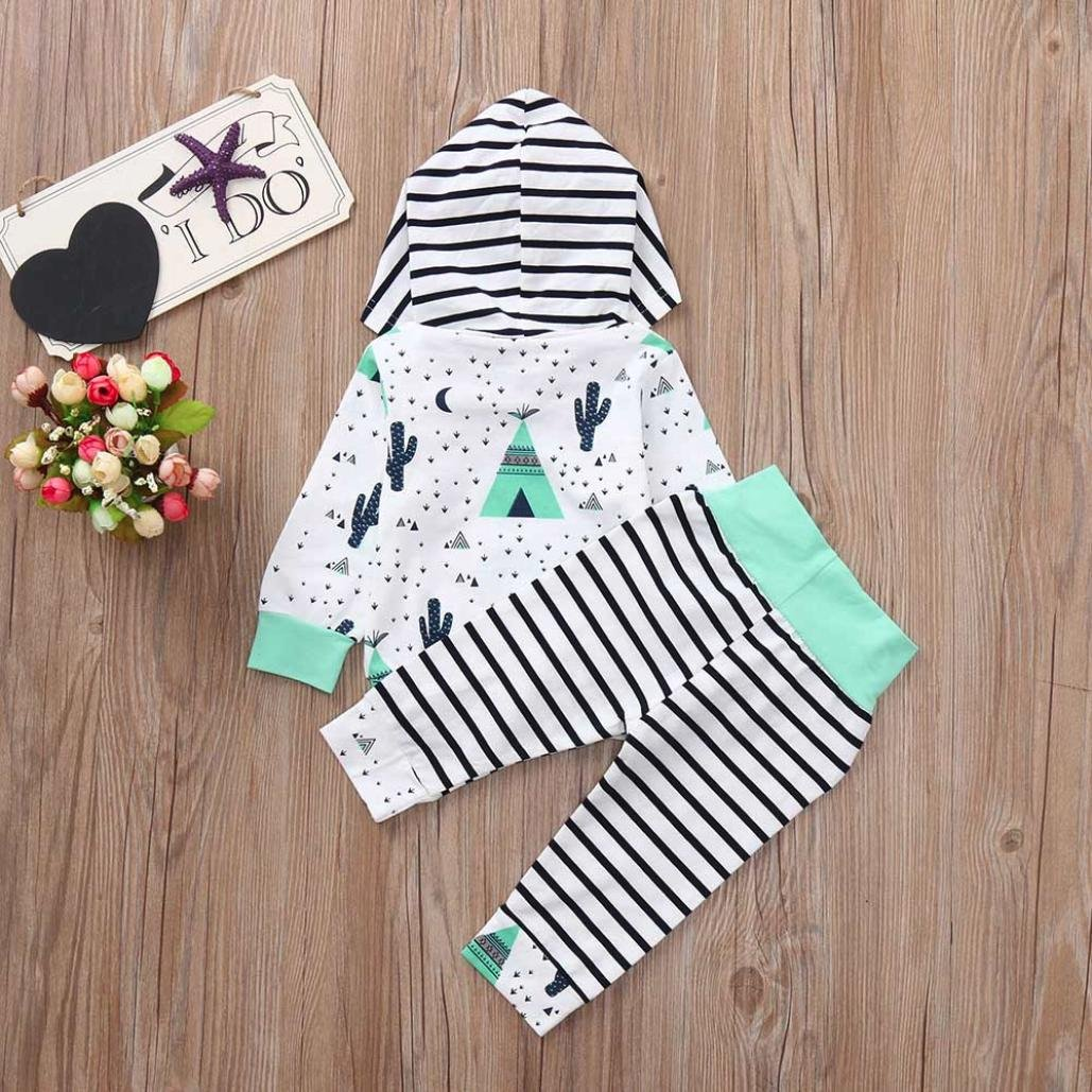 Staron  Baby Boy Striped Hoodie Clothes Set Tops+Pants Clothes Set Newborn Outfits