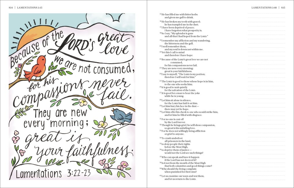 NIV, Beautiful Word Bible, Hardcover: 500 Full-Color Illustrated Verses by HarperCollins Christian Pub.