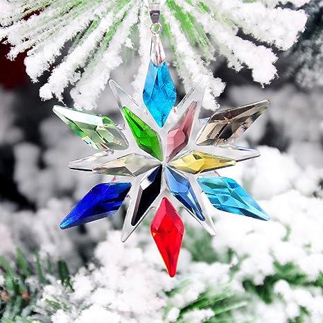 Crystal and metal SnowFlake Winter,Christmas Ornament or Suncatcher