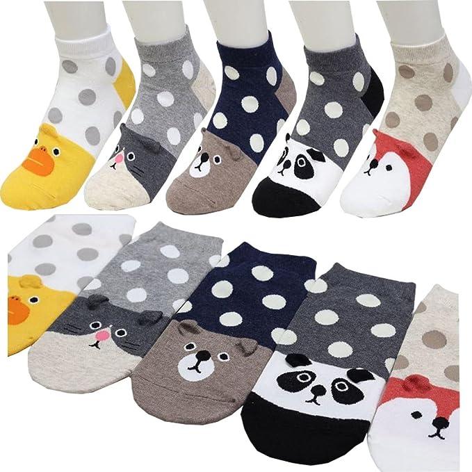 Small luxury socks factory Oso Zorro Panda ratón Tobillo Calcetines para niñas Pack de 5 Metro: Amazon.es: Ropa y accesorios
