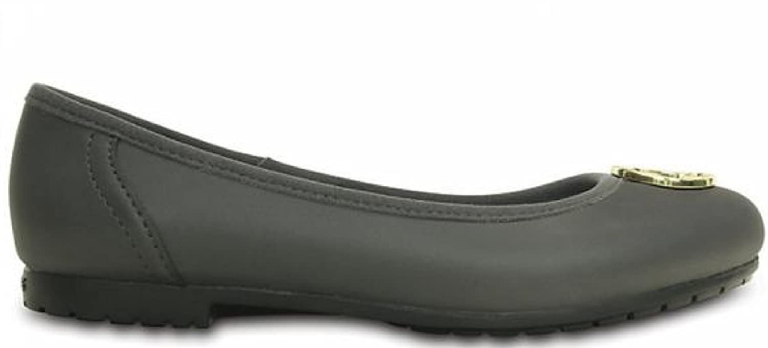 Crocs Marin ColorLite Disc Flat W Damen Graphite/Gold W7.5 / 38 EU