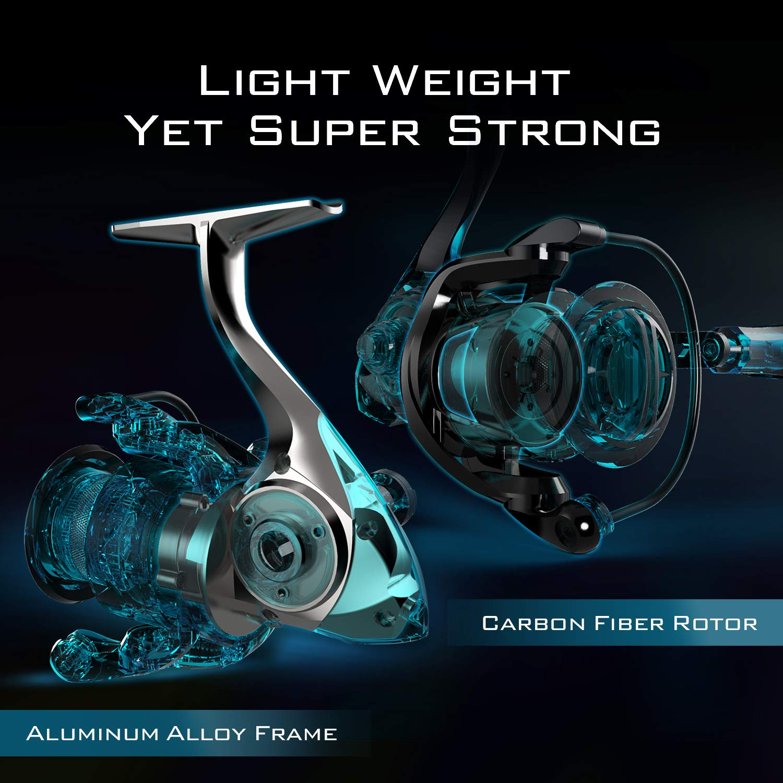 KastKing Speed Demon Spinning Reel, Blazing Fast 7 2:1 Gear Ratio