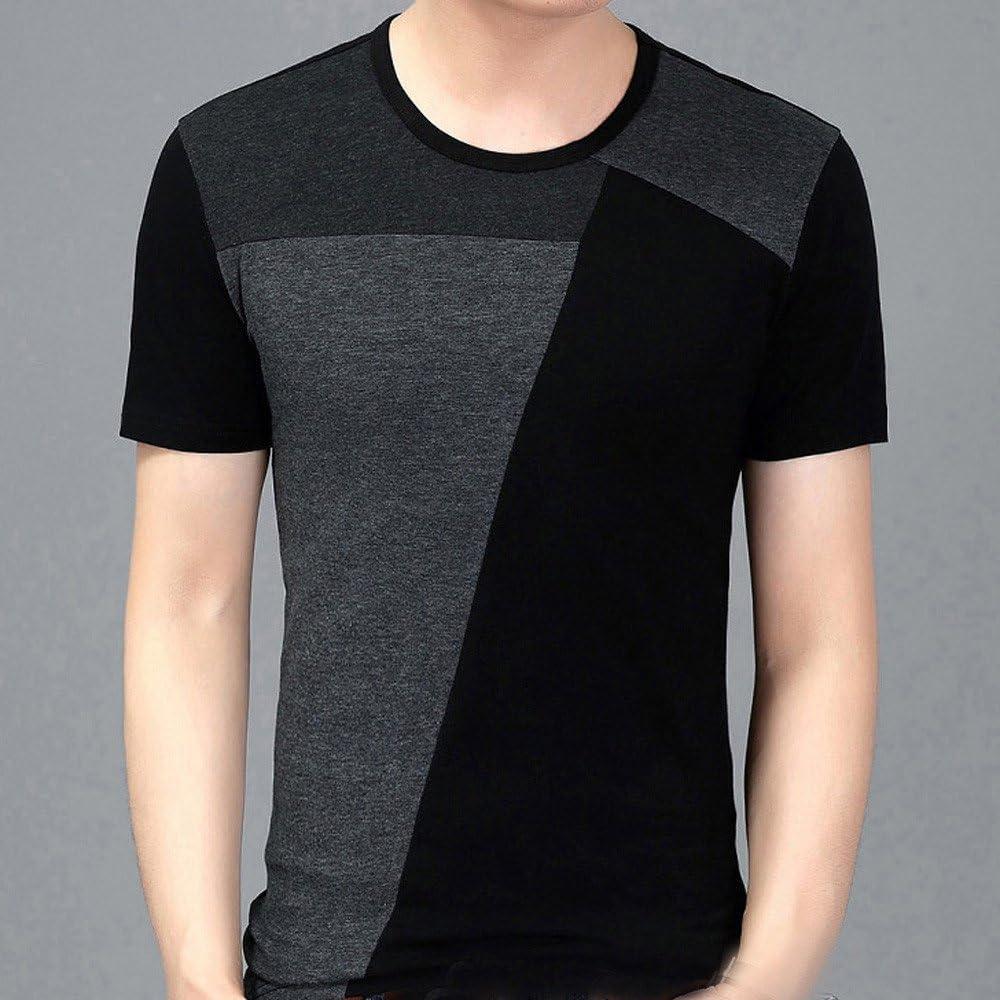 Diseño 3D T-Shirt Tops para Hombres, Negro Gris Estampado cúbico ...