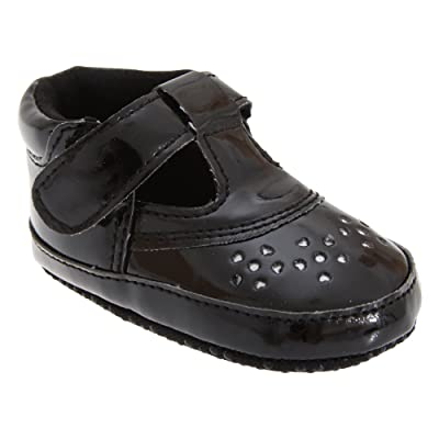Baby Girl Formal Shoes in Black with Strap (Size 1: 0-6 months) (Black)