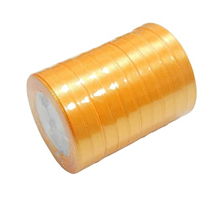 Perlin Satinband Doppelsatinband 20 m x 6mm Gold Schleifenband Dekoband GESCHENKBAND SCHMUCKBAND C182