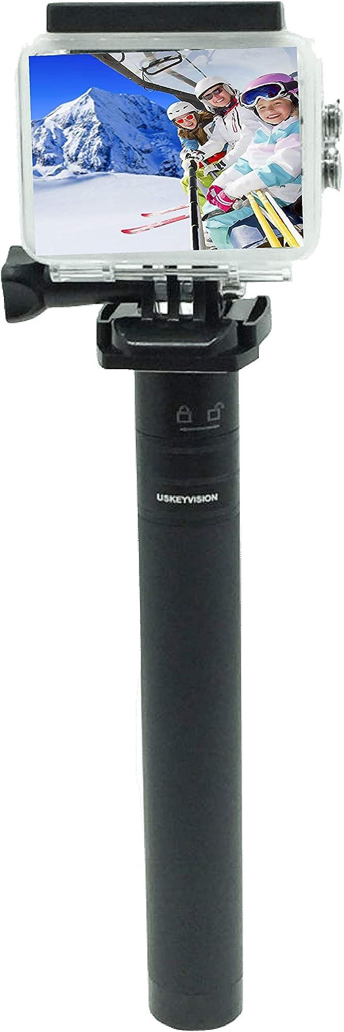 Hohem//DJI Osmo//Zhiyun//Feiyu USKEYVISION Monopi/é de extensi/ón Gimbal de 73,66 cm estabilizador de 3 ejes UV Expert barra de mano ajustable