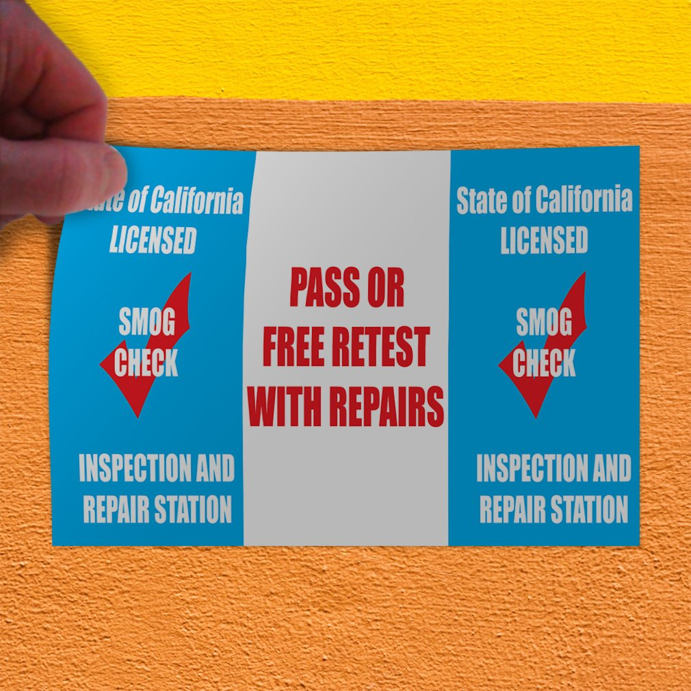 Decal Sticker Multiple Sizes Free Brake Inspection #1 Style C Automotive Pass The reapairs Outdoor Store Sign Blue 60inx40in Set of 2