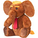 """Donald Trump Stuffed 8"""" Inch Elephant Plush Doll Toy - are You a Large Teddy Bear Republican GOP Trumps 2020 Supporter…"""